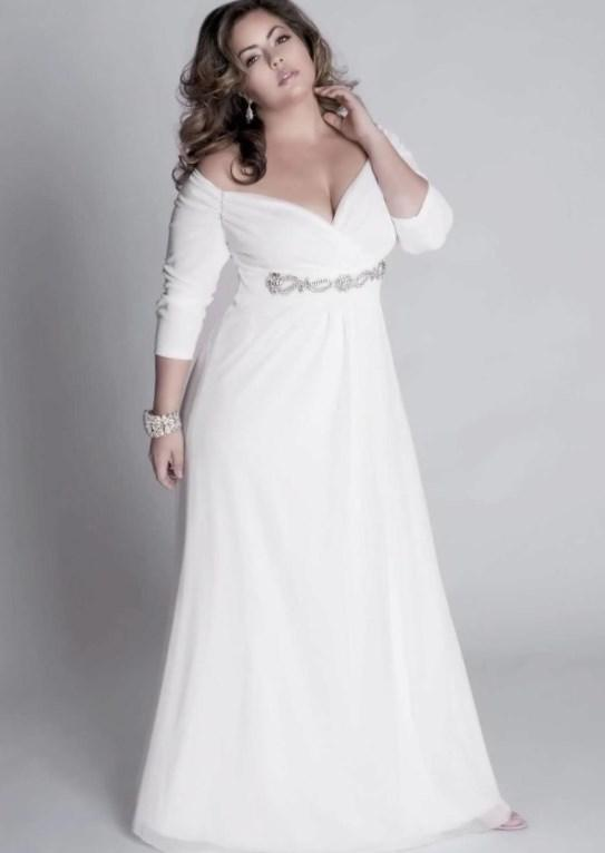 White plus size dresses for graduation