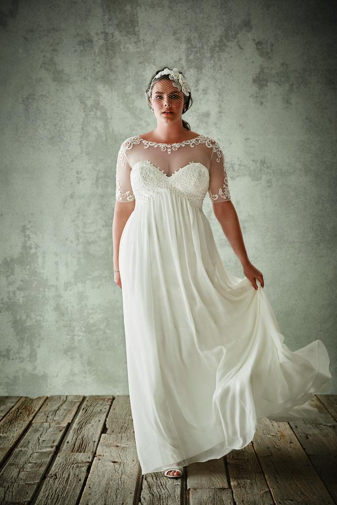 Plus size vera wang wedding dresses collection for Vera wang tea length wedding dress