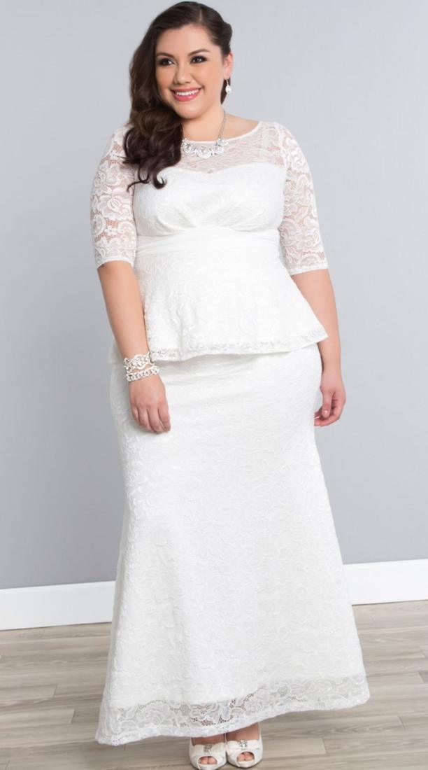 Flattering wedding dresses for plus size women pluslook for Women s dresses for weddings