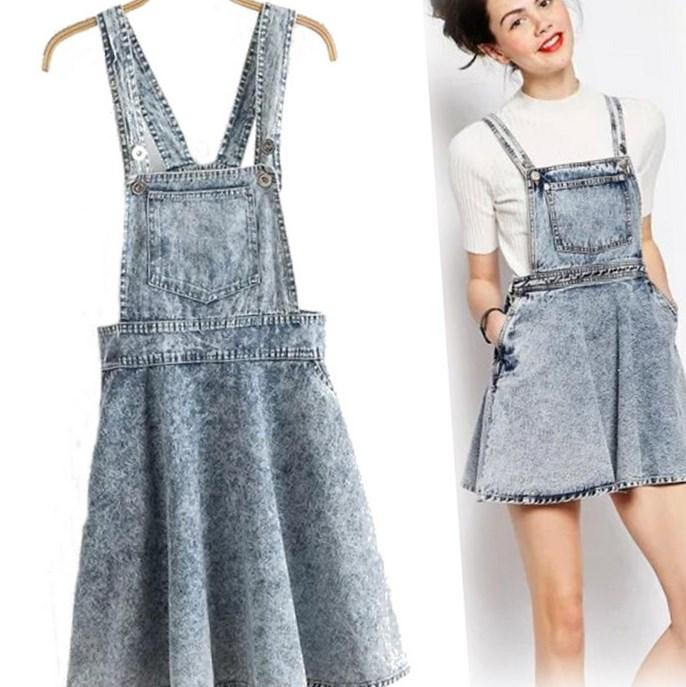 Plus size pinafore dress - PlusLook.eu Collection