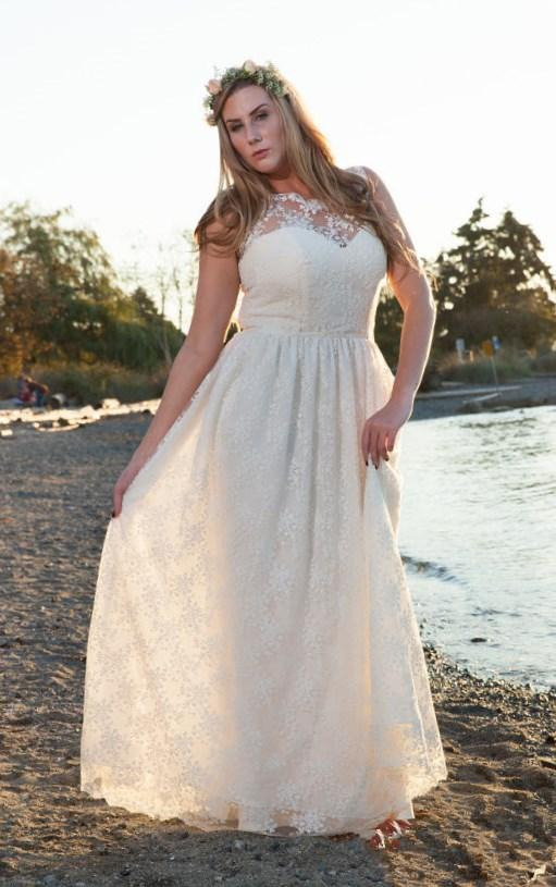 Lace Wedding Dresses 2016 Elegant and Romantic Beautiful Modest Lace Wedding Gown Bridal Gown Plus Size