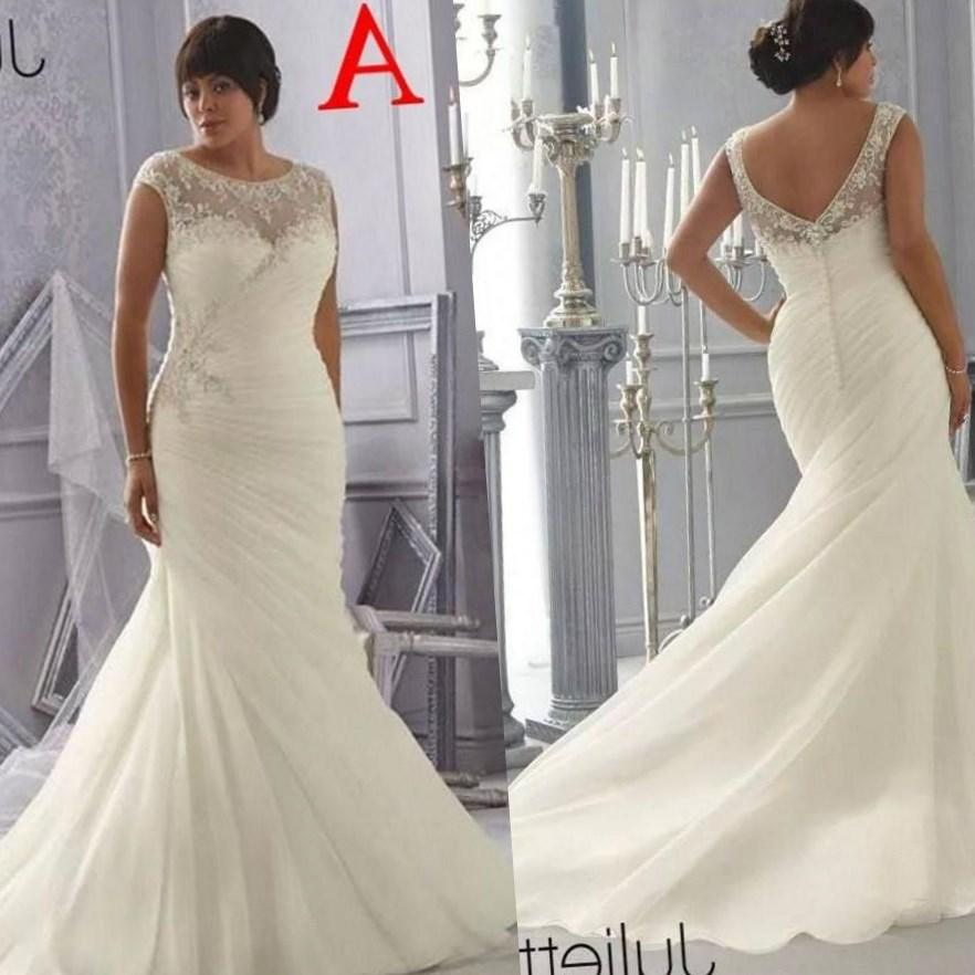 A-Line Sweetheart Sweep Length Chiffon Wedding Dress With Beading And Tiered