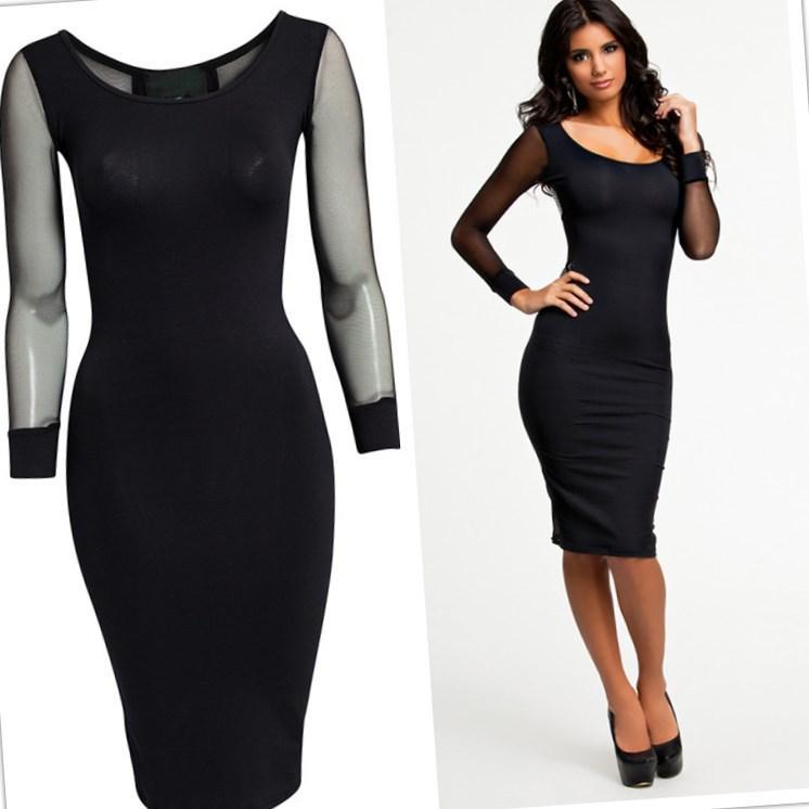 Black Plus Size Club Dresses Pluslook Collection
