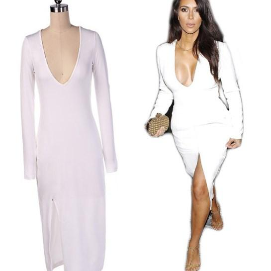 All white dresses for plus size women - PlusLook.eu Collection