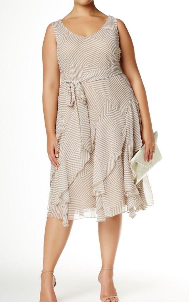 Sleeveless Printed Cascade Dress (Plus Size) by Robbie Bee on @nordstrom_rack: Trends