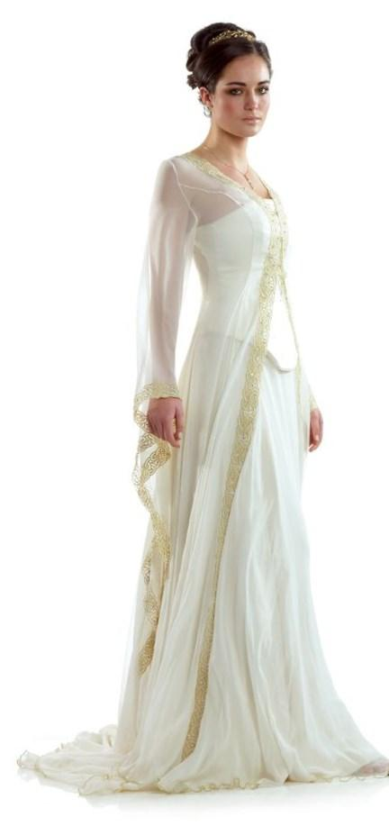 Celtic Wedding Dresses Plus Size