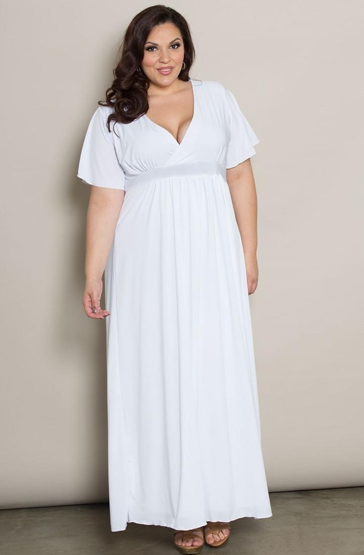 Wholesale Plus Size White Crochet Neckline Halter Maxi Dress. prev