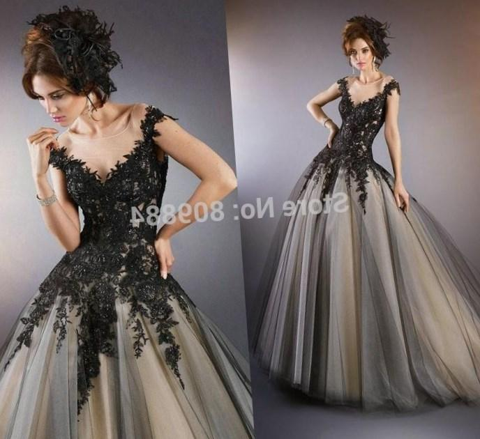 Gothic Black Wedding Dresses Plus Size Ball Gowns Puffy: Gothic Wedding Dresses Plus Size