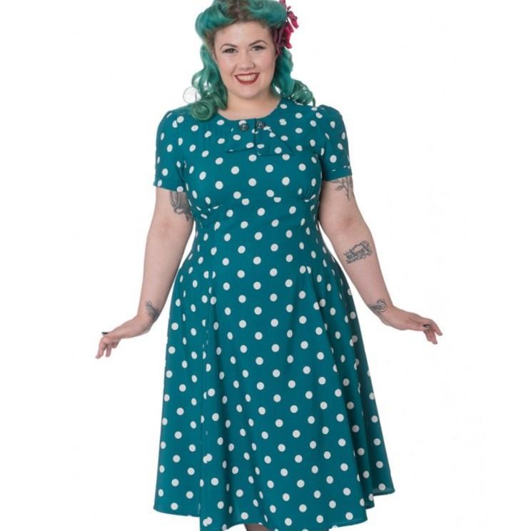 Plus size light blue dress - PlusLook.eu Collection