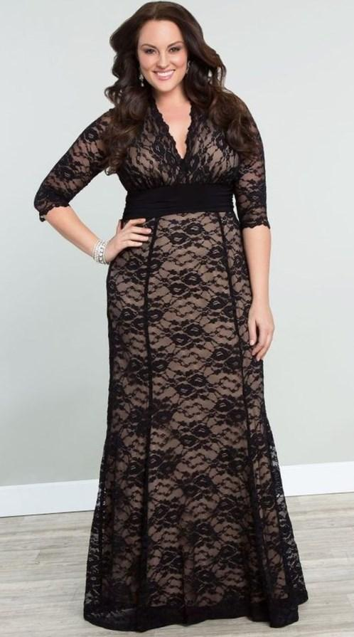 plus size long length dress