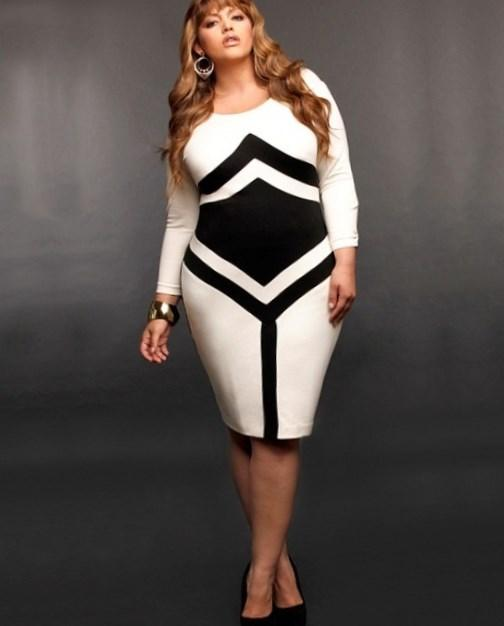 Plus Size Black and White Dresses