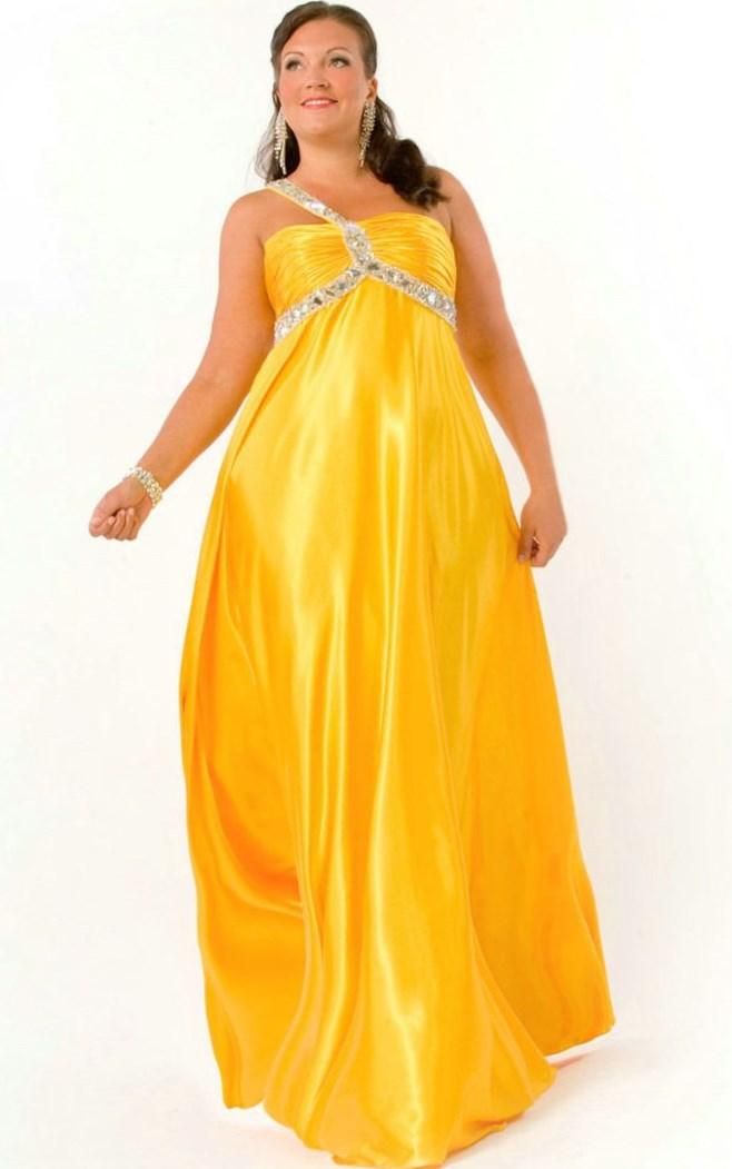 Yellow Plus Size Prom Dresses 83