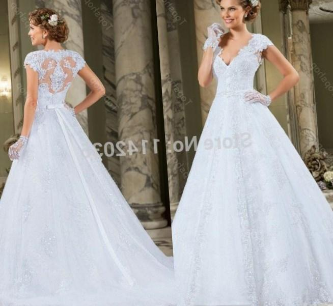 Custom Made Elegant A line Bridal Gowns for Women Modest Plus Size Wedding Dresses with Cap