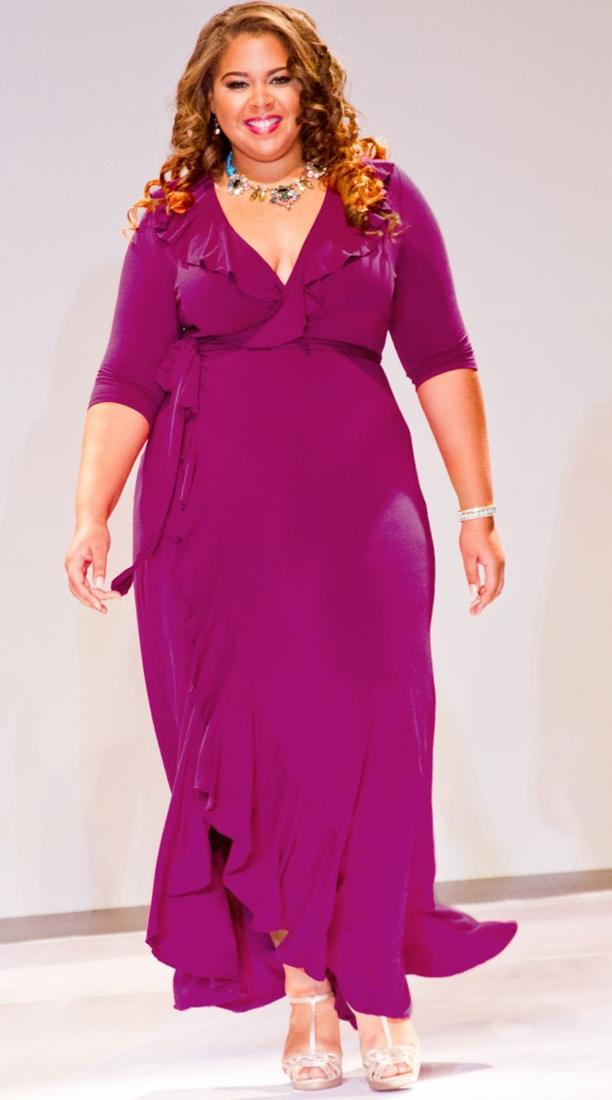 Maxi Wrap Dress Plus Size Pluslook Collection
