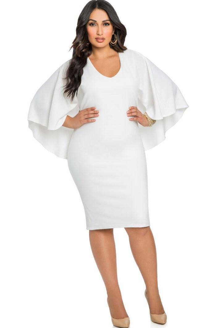 All White Sexy Club Party Dress 2018 Summer Two Pieces Bandage Dress Plus Size Slim Tank