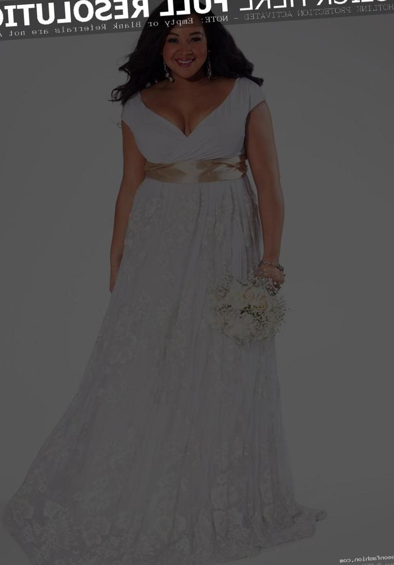 Flattering plus size wedding dresses collection for Wedding dresses for big hips