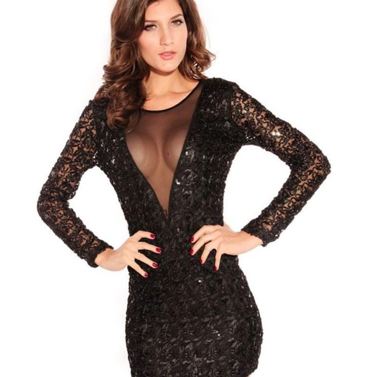 Club L Plus Size Sequin 2 in 1 Dress - $39.53
