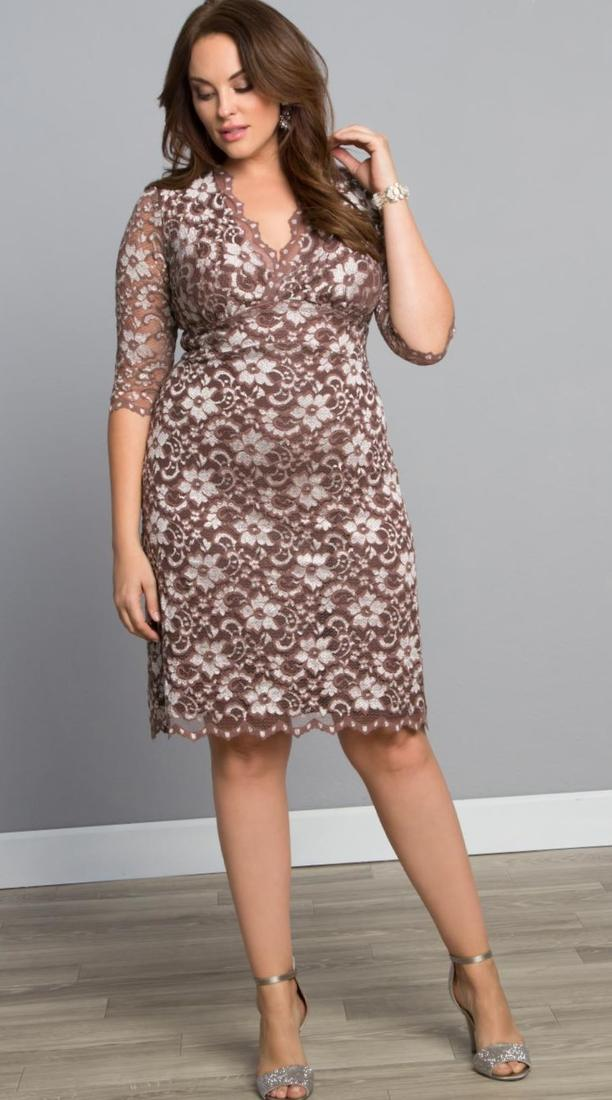 Plus Size Dress  Calloped Luna Lace, Raspberry Glaze Our Luna Lace Dress just got a makeover and we think you?ll love it! The Scalloped Luna Lace Dress has