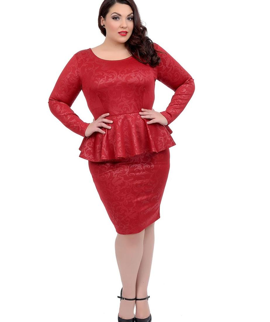 v neck peplum dress plus size outfits