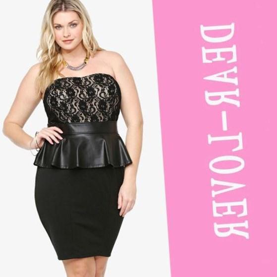 Black Peplum Dress Plus Size Ftf Gia Denim Jumpsuit New York U
