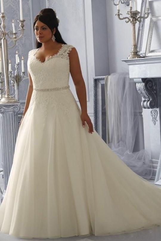 Plus Size Corset Wedding Dresses