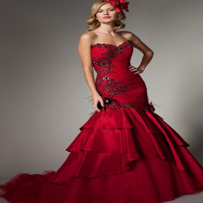 Gothic Plus Size Wedding Dresses Red And Black Wedding Avatar
