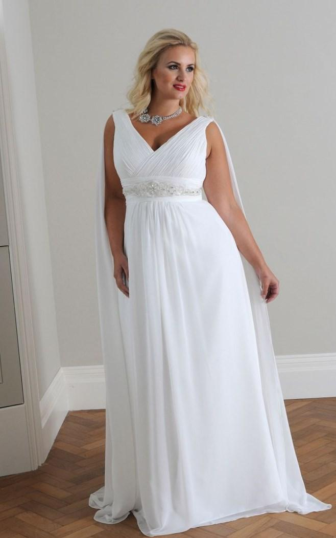 Simple wedding dresses for plus size collection for Plus size simple wedding dress