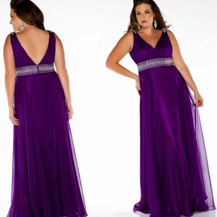 Plus size purple wedding dresses collection for Purple plus size dresses for weddings