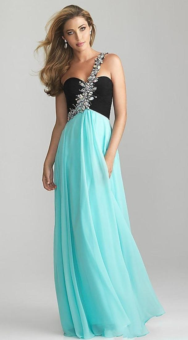B. Darlin Sequin Pattern Lace Cut-Out Waist Gown