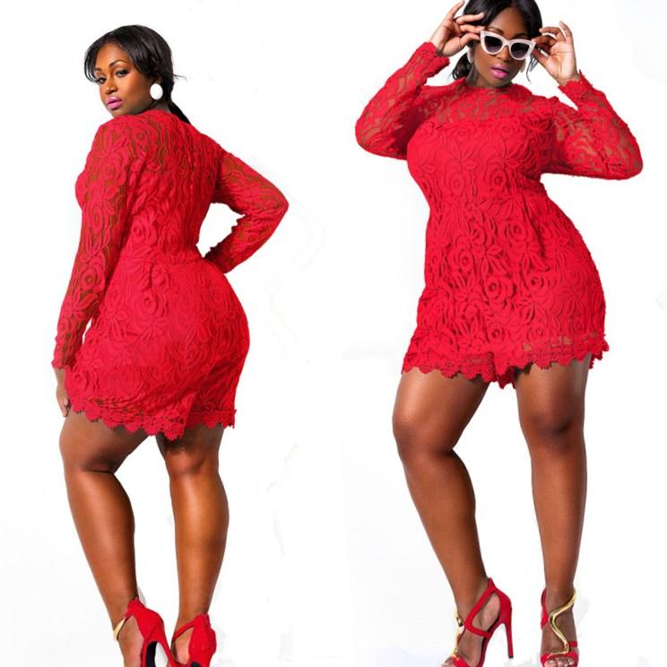 Short Red Dresses Plus Size