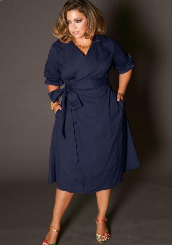 Royal blue plus size midi dress