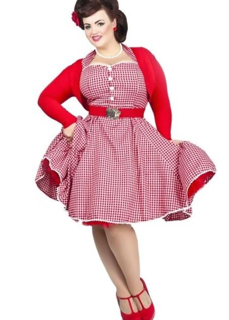 Pin Up Dress Plus Size Pluslook Eu Collection