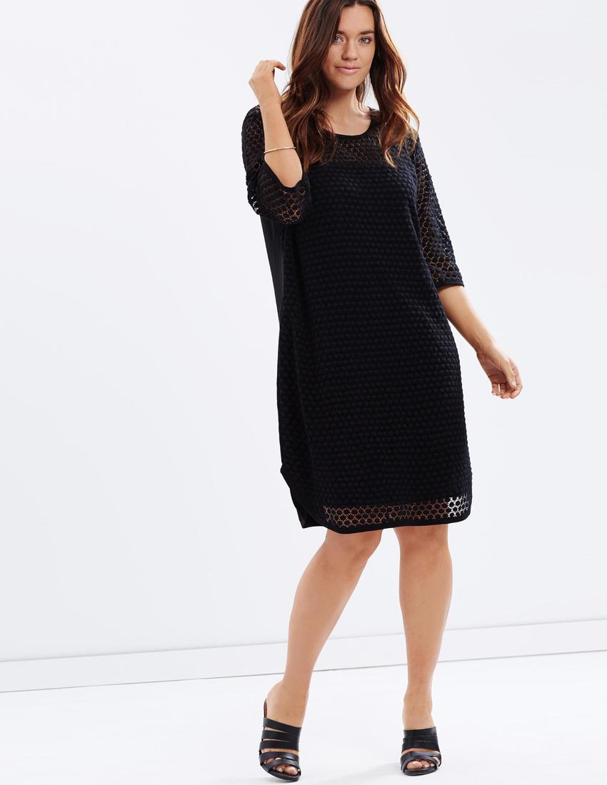 Love Your Wardrobe Spot Lace Front Dress $129.95