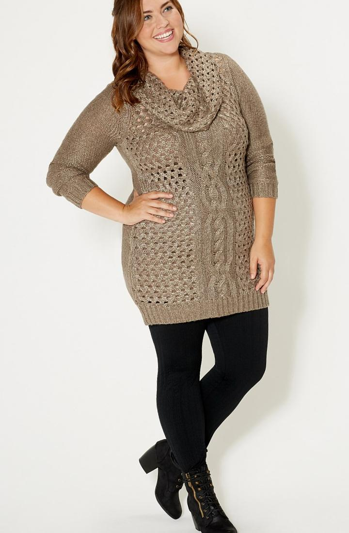 Sweater dress for plus size - PlusLook.eu Collection