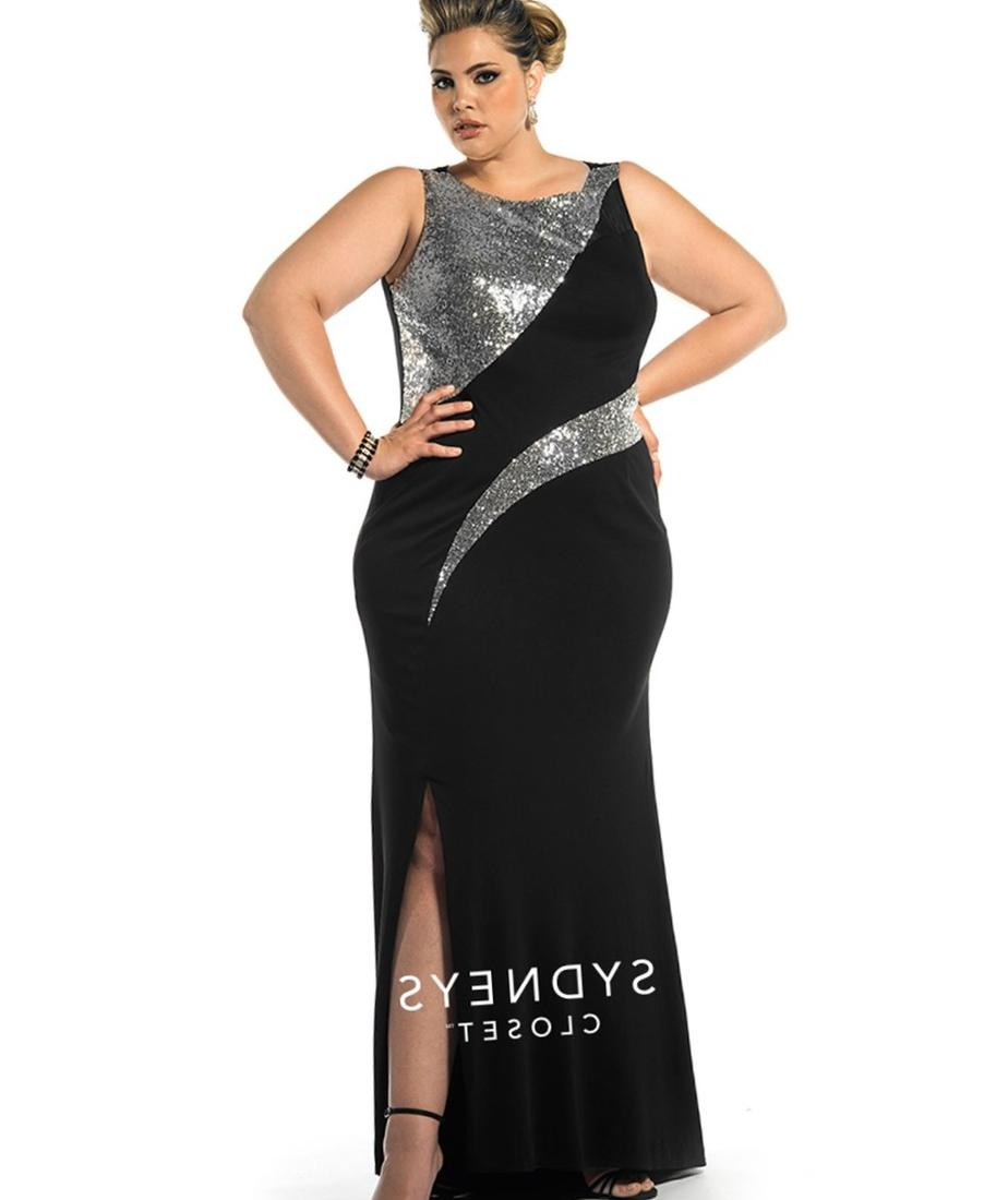 Black and silver cocktail dress plus size