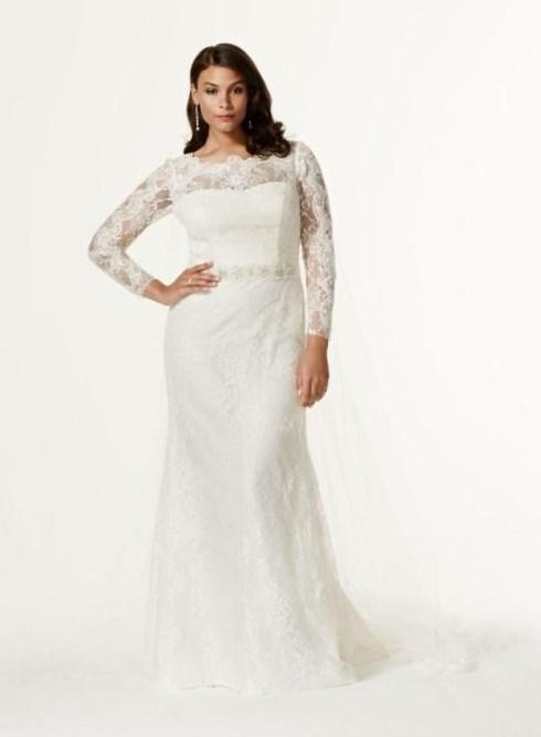 Mermaid Wedding Dresses Plus Size Fitting Ivory Embroidery