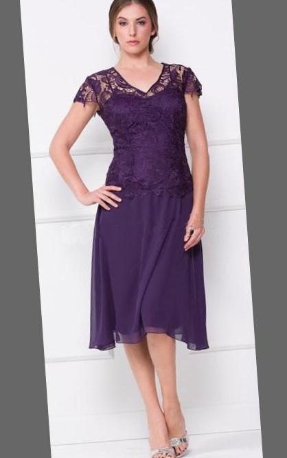 A-line Short Chiffon Plus Size Bridesmaid Dresses
