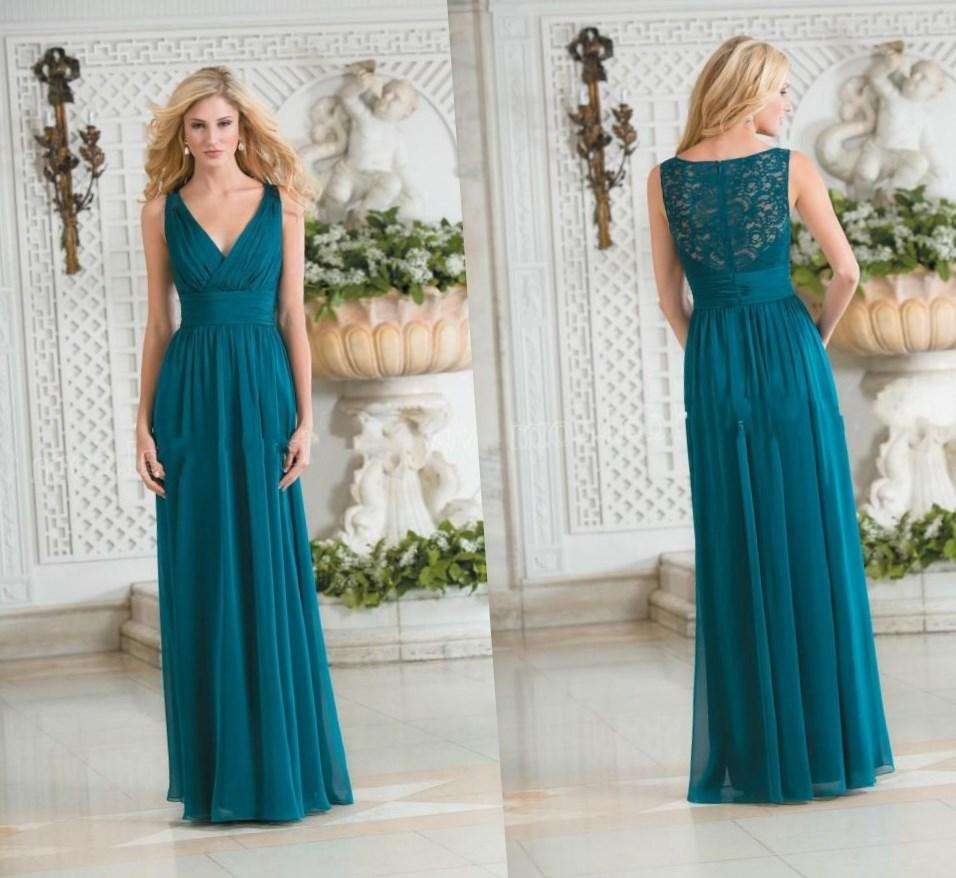 Maid of Honour Dress Fancy Anklelength Sleeveless Chiffon 383267552d8f
