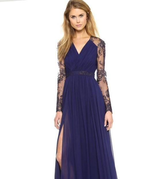 Navy blue maxi dress plus size - PlusLook.eu Collection