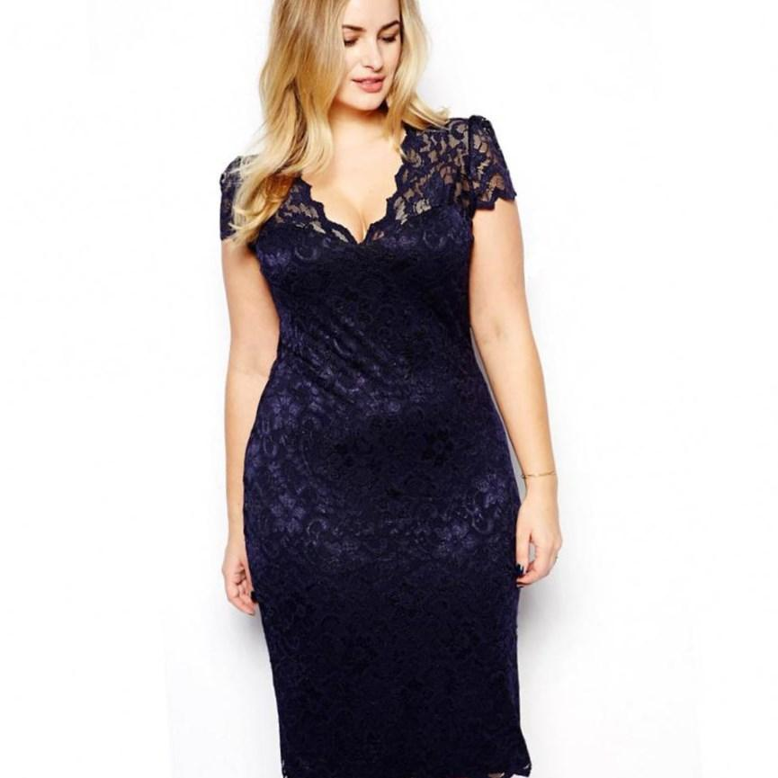 Plus size sexy cocktail dress - PlusLook.eu Collection
