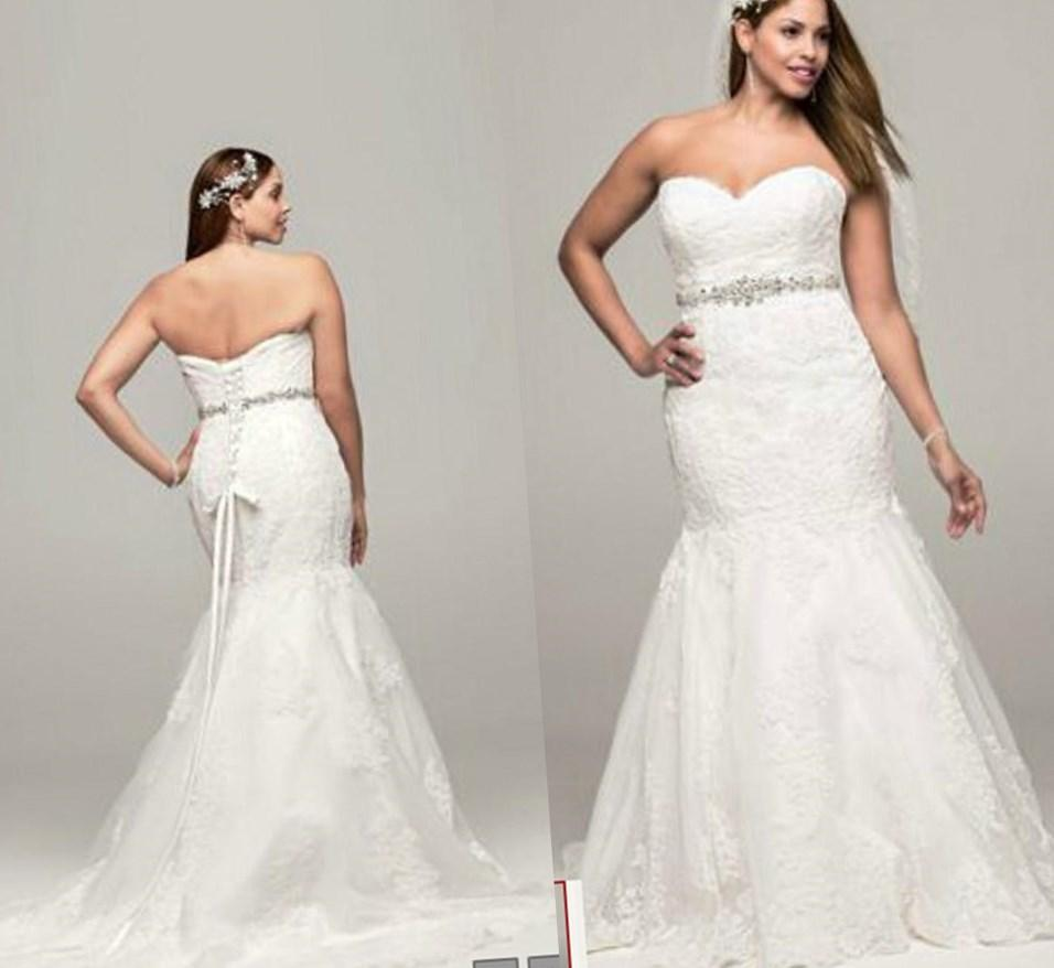 Plus size strapless wedding dresses - PlusLook.eu Collection