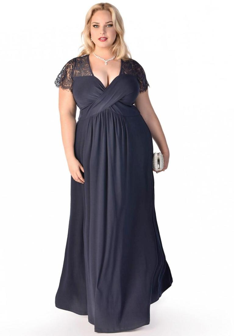 Plus size navy maxi dress collection for Plus size wedding dresses size 32 and up