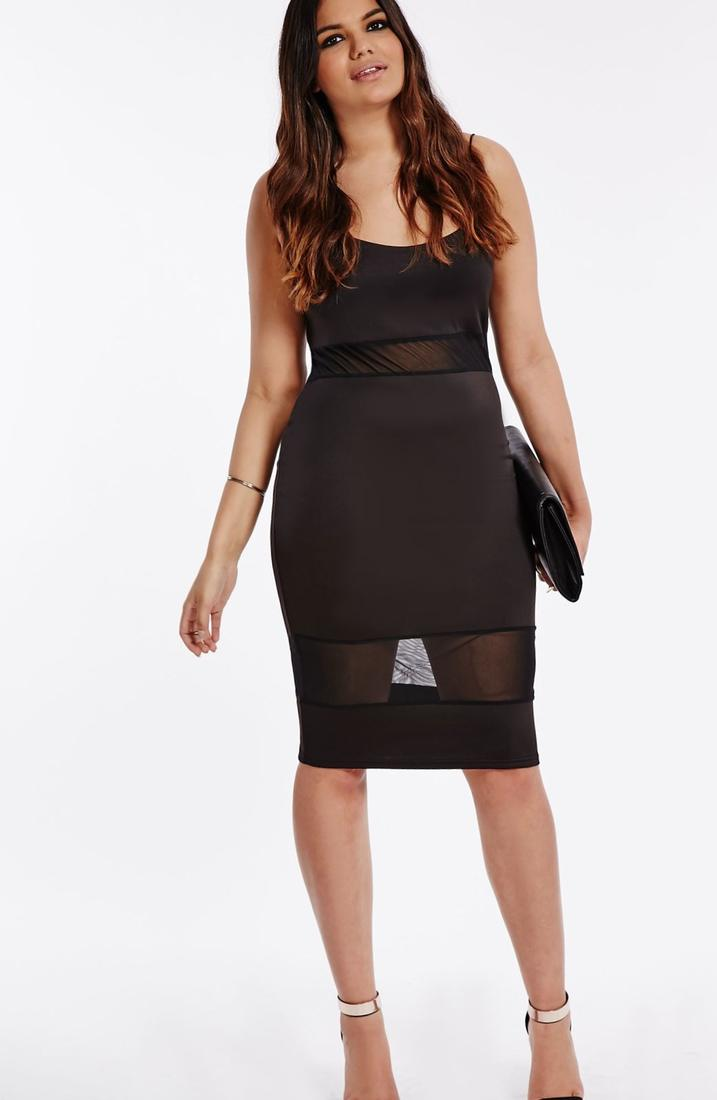 Midi Plus Size Dress Pluslook Collection