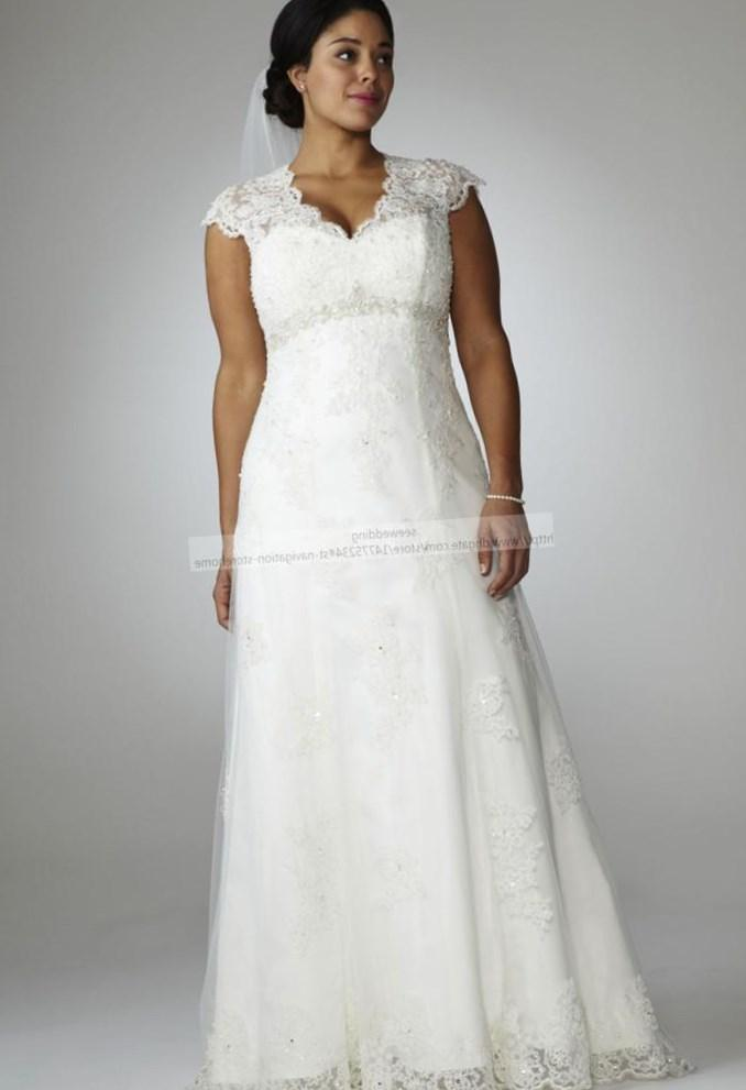 Plus Size Lace Wedding Dress Vintage