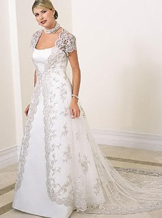 Bateau Plus Size Wedding Dress
