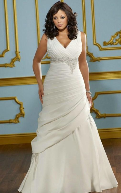 Plus size empire waist wedding dresses for Tight fitting wedding dresses