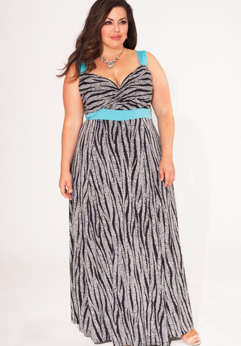 Little Mistress Plus Wrap Maxi Dress With Double Split: Maxi Dress Plus Size, White