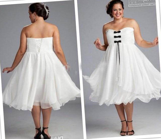 White plus size dresses cheap