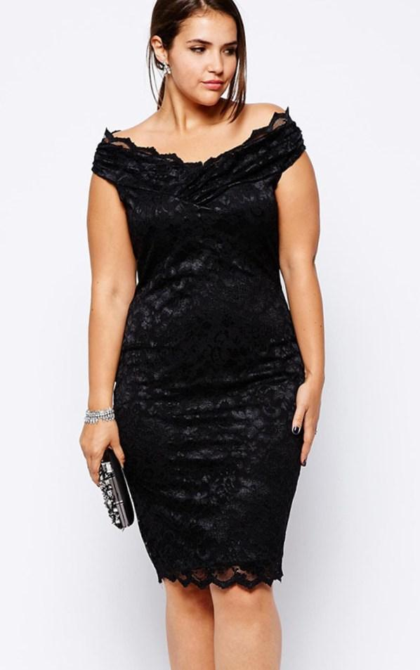 Sweet Luna Lace Dress, Black (Womens Plus Size)