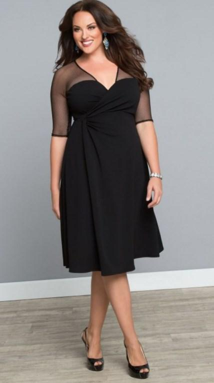 Black Short Cocktail Dress 2017 New Sexy Mini Sweet A-line Plus Size Prom Dresses